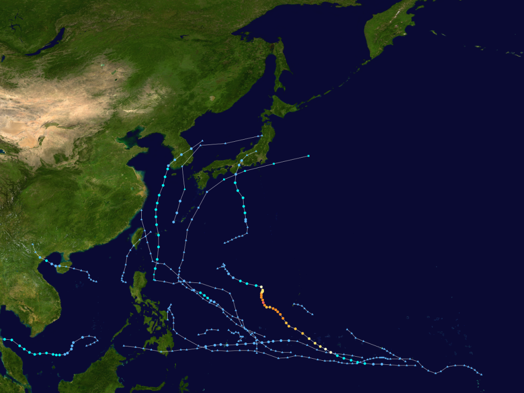 File:2019 Pacific typhoon season summary.png|thumb|2019 Pacific typhoon season summary