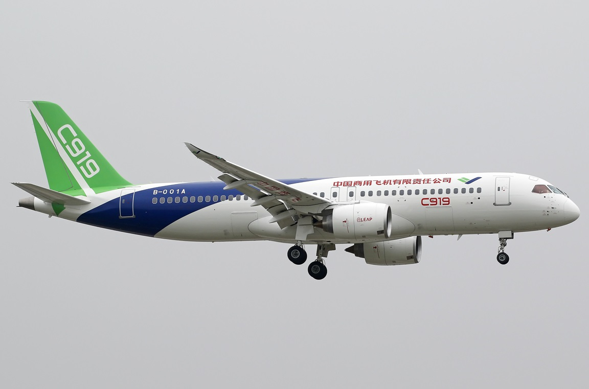 Comac C919 Weimeng at www.airliners.net [CC BY-SA 4.0 (https://creativecommons.org/licenses/by-sa/4.0)]