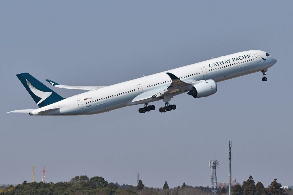 [[File:Airbus A350-1041 'B-LXA' Cathay Pacific.jpg|thumb|Airbus A350-1041 'B-LXA' Cathay Pacific]]